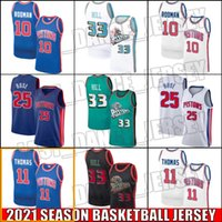 DetroitPistãoJersey Dennis 10 Rodman Jersey Isiah 11 Thomas Jerseys Derrick 25 Basquete Rose Jersey Grant 33 Hill Jerseys XCB8