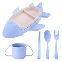 5pcs lot Cartoon Cute Square Car Train Airplane Baby Feeding Set Fruit Dish Thick Plate Dinnerware Table Dishes EWB6963