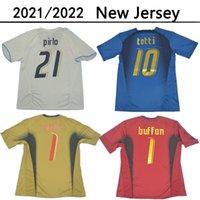 2006 Italien Retro Fussball Trikots Gattuso Cannavaro Buffon Football Hemd Totti del Piero Jersey Pirlo Classic Maillot de Foot