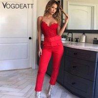 Yaz Neon Katı Renk Tulum Kadınlar 2021 Uzun Kollu Suit Kırpma Üst Rahat Blet Eşofman ve Pantolon Set Moda Lady Kadın Capris