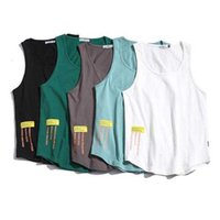 100% Cotton Gym Tank Top Men Casual Loose Oversized Fitness Summer Mens Beach Singlet Japan O-neck Bodybuilding Workout Tanktop_yw
