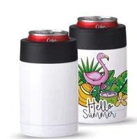 DIY Sublimation Leere Wasserflaschen 12 Unzen Kühler Kühler Kaffeetasse Bier kalter Lagerungstank 304 Edelstahl Vakuum-isoliertes Tasse FHL475-WLL