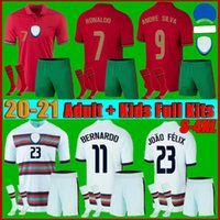 Männer + Kinder Kit 2021 Portugues Ronaldo Fussball Jersey 21 22 Joao Felix Diogo J Bernardo Fernandes National Team Football Hemd Fans + Player S-4XL
