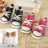 Pet Dog Shoes Denim Canvas Sneaker Puppy Sporty Cloth Shoes Pink Blue Pet Dog Boots lovely Shoes for small dogs