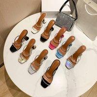 Top Womens Sandals Shoes Sexy Wide Toe Soles 7cm High Heels Wedding Shoe Nude Black Shiny Sandal Heatshoes 34-40