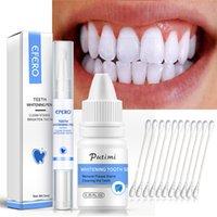 2pcs / set dents blanchissage de blanchiment d'hygiène orale blanchissant gel de gel nettoyer la plaque de blanchiment dentaire outils de blanchiment dents stylo blanchissant