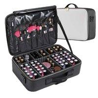 Lhlysgs Clapboard Kosmetiktasche Koffer Multi-Story Große Professionelle Make-up-Tasche Frauen Schönheit Organizer Kosmetiktasche 210322