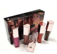새로운 크리스마스 입술 광택 세트 미니 다이아몬드 립 글레이즈 립글로스 5 PCS 광택 폭탄 축제 컬렉션 Rihanna DHL 배송