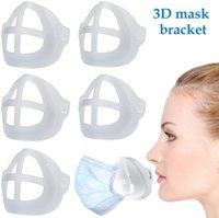 3D Silicone Face Mask Bracket Support Breathing Assist Help Mask Inner Cushion Bracket Mask Holder Breathable Valve Lipstick Protection Stan