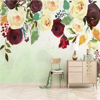 American Garden Rose Mural 3d Wallpapers For Living Room TV Sofa Background Wall Papers Home Decor Wallpaper Bedroom Walls