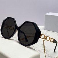 Womens 선글라스 4395 패션 쇼핑 불규칙 프레임 황금 체인 레저 여행 휴가 태양 안경 디자이너 최고 품질