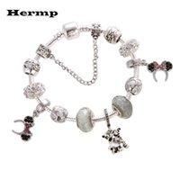 Link, cadeia Hermp encantador encantador pulseiras para crianças Crystal Bead Jóias Fit Women DIY Bracelete Dos Desenhos Animados Chistrmas Presente
