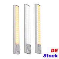 De Stock 160 LED Treppen Nachtlicht Wireless Pir Motion Sensing Schrank Unter Schrankbeleuchtung USB Wiederaufladbare Batterie