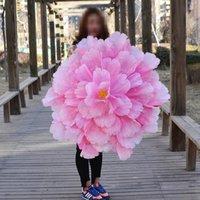 Peony Flower Umbrella Dance Props Wedding Family Party Decoration Fake Wreath Decorative Flowers & Wreaths