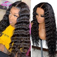 30Inch Deep Wave Human Hair Lace Front Wigs Brazilian Curly For Women 4x4 Closure Wig 180 Density Remy1