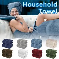 Towel Turkish Cotton Coral Fleece Set Adult Household Bath Face Thick Absorbent Luxury Bathroom 35 X 70 Inch #41