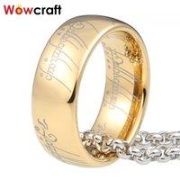 Wowcraft - мужская и женская карбидное кольцо вольфрама, ювелирные изделия 6 8 мм, розовое золото, черное / голубое покрытие, регулярная резьба купольной группы
