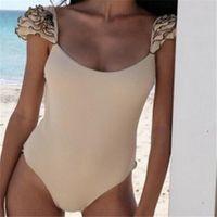 المرأة قطعة واحدة ملابس السباحة العميقة الخامس مبطن البرازيلي ملابس monokini بيكيني مثير بحر 2021 costumi دا باجنو دونا الدعاوى