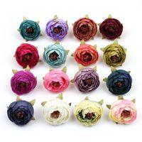 Pcs Artificial Flower Camellia Head For Bride Hair Clip Xmas Brooch Craft Wedding Decorative Flowers & Wreaths
