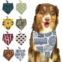 Adjustable Pet Dog Cat Neck Bandana Puppy Neckerchief Collar Scarf Accessories For Cats & Dogs Vintage Image Pattern Grooming