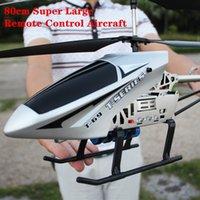 80 cm Super große 2,4g Fernbedienung Flugzeug Anti-Herbst RC Hubschrauber Drohne Modell Outdoor Legierung RC Flugzeug Erwachsene Spielzeug Kinder Spielzeug 210325