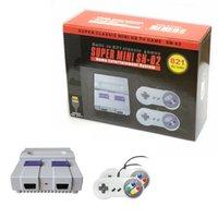 Super Classic Mini SN-02 للرجعية الكلاسيكية لعبة فيديو وحدة التحكم التلفزيون لعبة فيديو لاعب المدمج في 821 ألعاب مع المزدوج gamepads hdtv كابل الولايات المتحدة