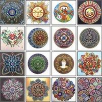 Elmas Nakış Mandala Çiçek Özel Şekil Boyama İğne Rhinestone 5D DIY Kristal