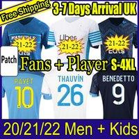 21 22 Olympique de Marseille Soccer Jersey 2021 2022 om Milik Maillot القدم المأكولات Benedetto Kamara كرة القدم قميص Thauvin Payet