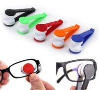 Mini óculos de sol limpeza óculos de limpeza ferramenta festa favor microfiber escova abs óculos limpo gwf8520