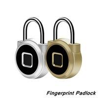 Smart Fingerprint Lock Padlock Keyless Portable USB Chargeable Anti-Theft Padlocks Electronic Non-password Finger Touch Locks