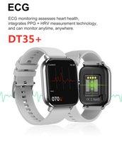 Fitness Tracker DT35 Plus Smart Watch 1,75 pouce Plein écran IP67 imperméable ECG Bracelet Santé Bluetooth Température de la fréquence cardiaque