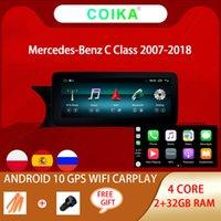 "10.25 ""Reproductor de DVD del automóvil para Mercedes Benz C GLC W204 W205 BT Google WiFi GPS Radio 2 + 32G RAM Carplay Android 10.0 IPS Pantalla táctil"