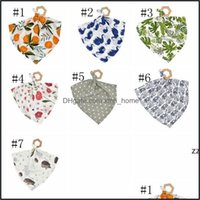 Handkerchief Textiles Home & Gardeninfant Saliva Wood Teether Toy Cotton Toddler Bandana Dribble Bibs Pinafore Solid Born Triangle Towels Hw