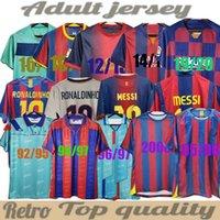 Retro Fútbol Jersey Barcelona 96 97 07 08 09 10 11 Xavi Ronaldinho Ronaldo Rivaldo Guardiola Iniesta Finales Messi Maillot de Foot 1899 1999