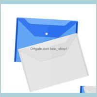Business PRODOTTI INDUSTRIALE A4 Borse Documento A4 con pulsanti a scatto Buste trasparenti Cartelle di carta in plastica 16C RSH6P