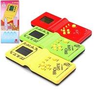 Classic Tetris Hand Nostalgic Host Game Player Hold Electronic Game Toys Console per bambini che gioca a divertimento Gioco di mattoni Riddle Handheld E9999