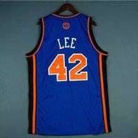Jersey de basquete raro homens juventude mulheres vintage azul 42 David Lee High School lincoln tamanho s-5xl personalizado todo nome ou número