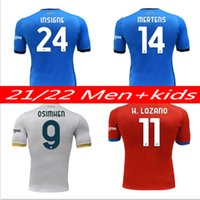 2021 2022 Napoli Futbol Formaları Burlon Maradona Maglietta da Calilatore Osimhen Insigne 21/22 SSC Napoli Maglia Mertens Erkekler Kids Kits Futbol Gömlek Tayland