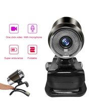 Webcams Webcam USB Computer Driver-free With Built-in Sound-absorbing Microphone Full HD Cam For PC Live Video