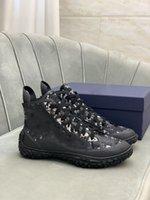 Marke Casual Schuhe B28 High-Top Sneakers Schräge gedruckt Stoff Leinwand Mode Atmungsaktive Technologie Outdoor Trainer für Männer Frauen mit Box