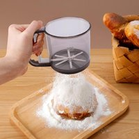 Hand Press Flour Sifter With Stainless Steel Double Layers S...
