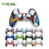 2021 color camouflage Silicone case Camo Silica shell Protective Skin For Sony Dualshock 5 PS5 DS5 Pro Slim Controller