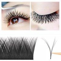 False Eyelashes V Shape Auto-Fans Eyelash Extension Premade Volume Maquiagem Cílios Individual Silk Type Easy Fan Lashes Lucky Lash