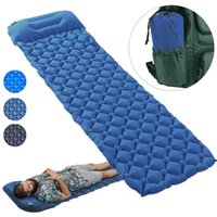 Outdoor Pads Waterproof Portable Ultralight Inflatable Camping Mattress Pad Mat Air Mattresses Pillow Bed Cushion For Hiking Traveling