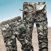 Frachthosen Männer Overaller Camouflage Casual Hosen Baumwolle taktische militärische Herrenhose Hohe Qualität Green Camo Hosen Kein Gürtel