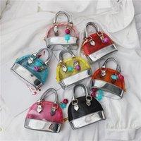 Kinder Neueste Geschenke Koreanische transparente Baby Mädchen GELLY PRINT BAGS Kreuzkörper Nette Mini Mode Snacks Geldbörsen Taschen Münze Handtaschen Sollten EAIX