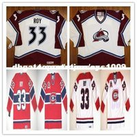 Patrick a buon mercato Roy Custom Colorado Avalanche Montreal Canadiens rosso Stanley Cup Centennial Jersey CCM Vintage Jersey