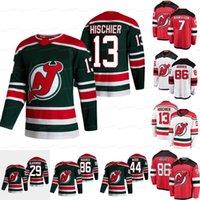 13 Nico Hischier New Jersey Devils 2021 عكس الرجعية جيرسي دوجي هاميلتون جاك هيوز هيوز ماكنزي بلاكوود أميال الخشب ريان قبور يغور شارانغوفيتش
