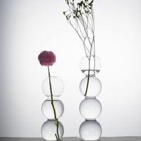Yaratıcı Hidroponik Vazo Kabarcık Şekli Yeşil Bitki Çiçek Cam Vazolar Ofis Hotel Ev Dekorasyonu için ZWL622