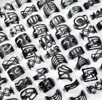 Ecoolin Gioielli Vintage Black Zinc Ley Gypsy Regolabile Dito Tattoo Anelli ANELLI ANELLI ANELLI PER DONNE UOMO MANEGGIAMENTI BULK Lots Mix Style PS2494